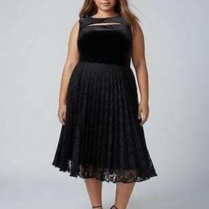 Lane Bryant velvet and Lace dress